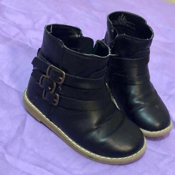 Toddler Girl Boots Size 6 Black